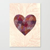 Pink Heart Canvas Print