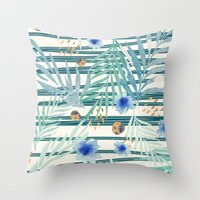 SUMMERTIME STRIPES Throw Pillow