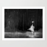 ... As The Rain Fell On … Art Print