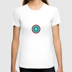 Pokeball Reactor Womens Fitted Tee White SMALL