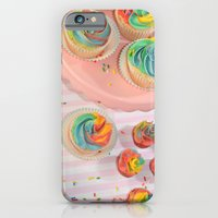 iPhone & iPod Case featuring rainbow cupcakes by Sofia Mansilla