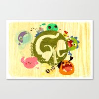 CARE - Love Our Earth Canvas Print