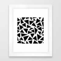 Black and White Triangle Framed Art Print