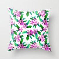 Tahitian Garden {A} Throw Pillow
