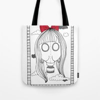 I Only Wear My Gas Mask Tote Bag
