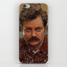 Ron Swanson, Nick Offerman, Parks and recreation iPhone & iPod Skin