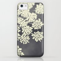 iPhone 5c Cases featuring Black and White Queen Annes Lace by Erin Johnson
