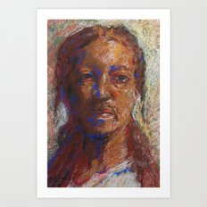 Man in Pastel Art Print