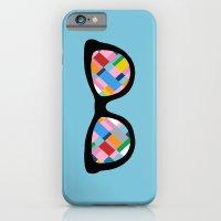 Map 45 Glasses on Sky Blue iPhone 6 Slim Case