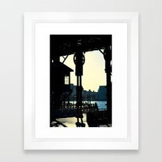 Long Island Pier Framed Art Print