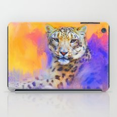 Colorful Expressions Snow Leopard iPad Case