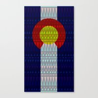 Colorado Flag/Geometric Canvas Print
