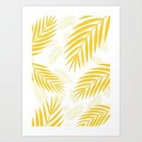 gold paradise Art Print