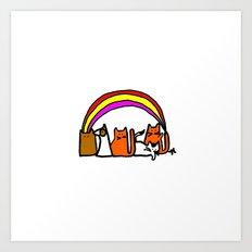 Rainbow. Art Print