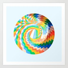 Swirl of colour Art Print