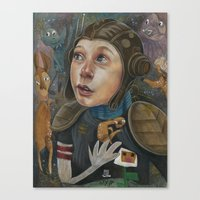 IMAGINARY ASTRONAUT Canvas Print