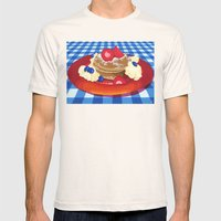 Pancakes Week 10 Mens Fitted Tee Natural SMALL