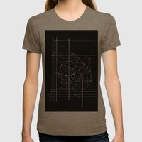 Lines Womens Fitted Tee Tri-Coffee SMALL