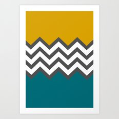 Color Blocked Chevron Art Print