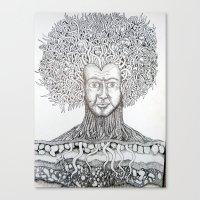 Nerve Roots Canvas Print