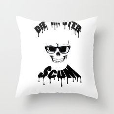 DIE HIPSTER SCUM Throw Pillow