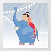 Blue Circus Canvas Print