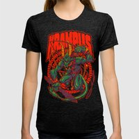 KREEPING KRAMPUS Womens Fitted Tee Tri-Black SMALL