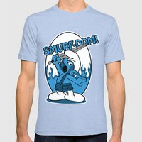 Brave Smurf Mens Fitted Tee Tri-Blue SMALL