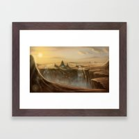 Canion Village Fantasy L… Framed Art Print