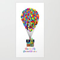 Up! You Are My Greatest … Art Print