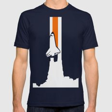 Launch me - The Final Flight of the Space Shuttle Mens Fitted Tee Navy SMALL