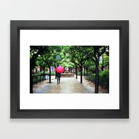 A Rainy Barcelona Framed Art Print