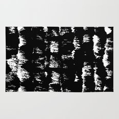 Black pattern#1 Rug