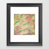 Soft Color Splash Abstra… Framed Art Print