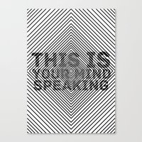 This is Your Mind Speaking Canvas Print