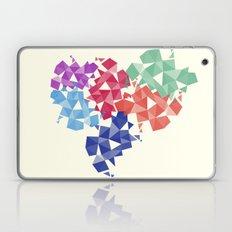 Background of geometric shapes. Colorful mosaic pattern Laptop & iPad Skin