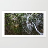 Through The Wood Line. Art Print