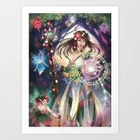 Flora Witch Art Print
