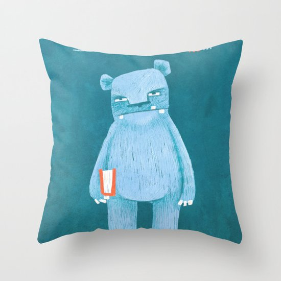I still read books and I vote Throw Pillow