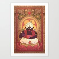 Enlightened Mr. Popo Art Print