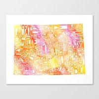 Typographic Colorado - O… Canvas Print