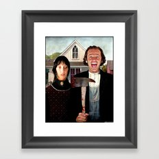 A Shining Gothic Framed Art Print