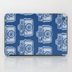 I Still Shoot Film Holga Logo - Reversed Blue iPad Case