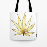 Golden Cannabis Tote Bag