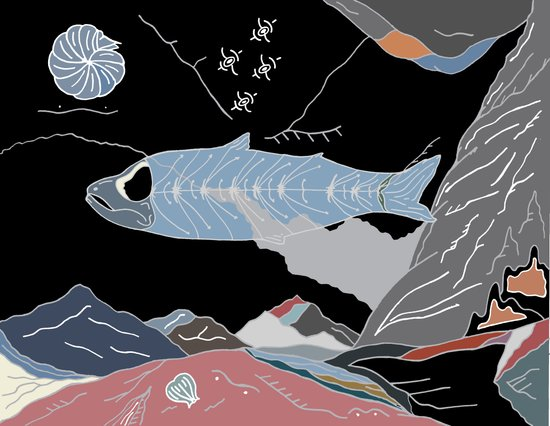 the Fossil Record Art Print