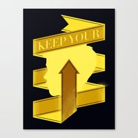 Keep Your Head Up. Canvas Print