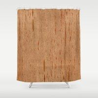 Cedar Spanish Wood Shower Curtain
