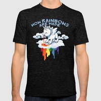 How Rainbows Are Made Mens Fitted Tee Tri-Black SMALL