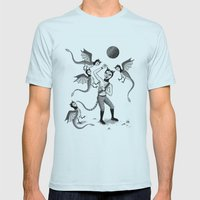 Wings and Talons Mens Fitted Tee Light Blue SMALL
