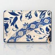 Blue Oriental Vintage Pa… iPad Case